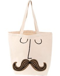 Mustache Face BabyLit® Tote