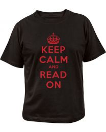 Keep Calm and Read On T-Shirt Large