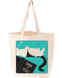 Snore and Peace Cat Tote