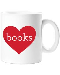 Heart Books Mug