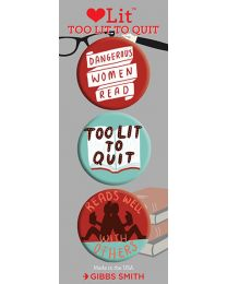Too Lit to Quit 3-Button Assortment