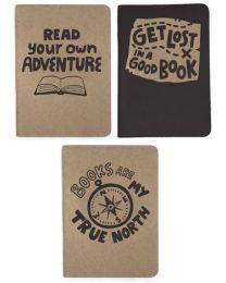 Get Lost In a Good Book 3-pack Notebooks