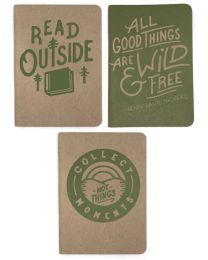 Read Outside 3-pack Notebooks