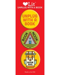 Unplug with a Book 3-Button Assortment